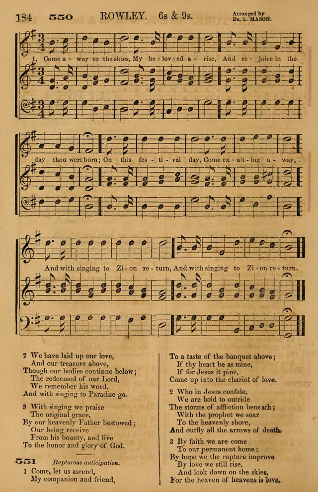 The Tribute of Praise: a collection of hymns and tunes for public and social worship, and for use in the family circle page 184