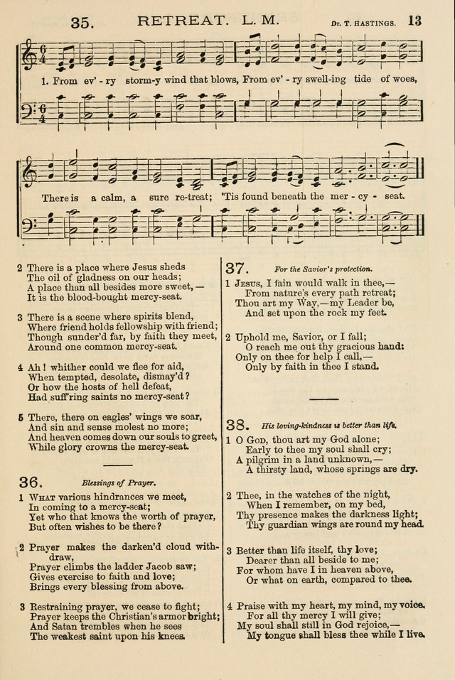 The Tribute of Praise: a collection of hymns and tunes for public and social worship, and for the use in the family circle and Sabbath school page 13