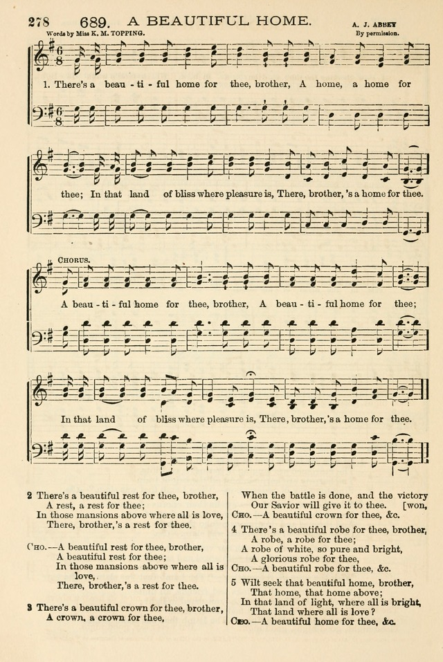 The Tribute of Praise: a collection of hymns and tunes for public and social worship, and for the use in the family circle and Sabbath school page 278