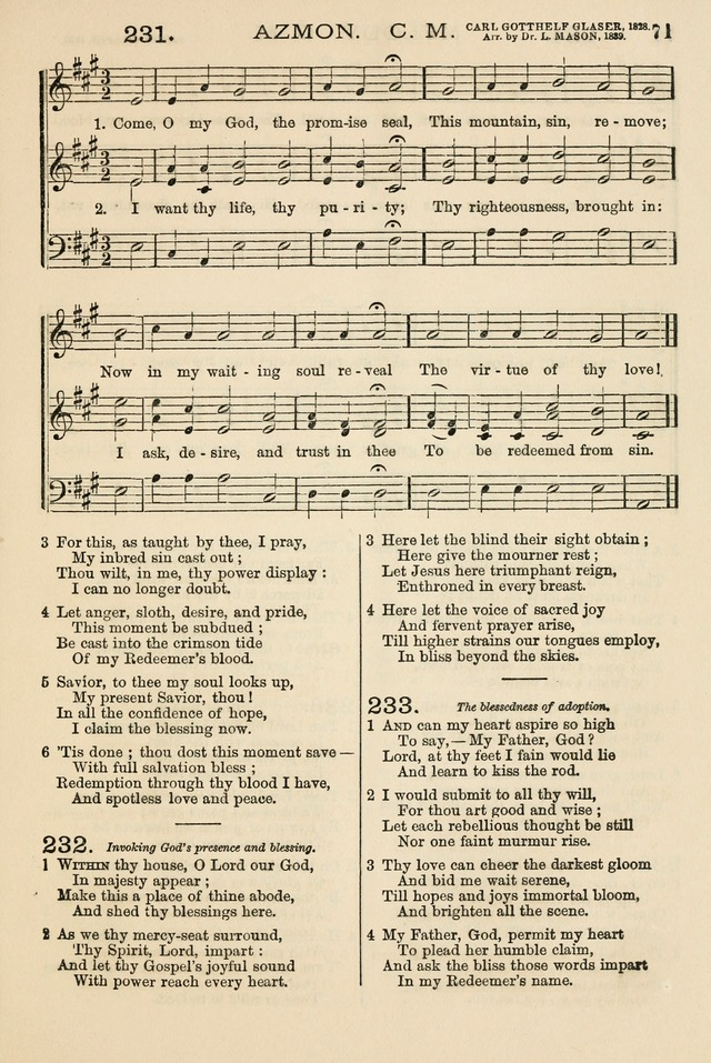 The Tribute of Praise: a collection of hymns and tunes for public and social worship, and for the use in the family circle and Sabbath school page 71