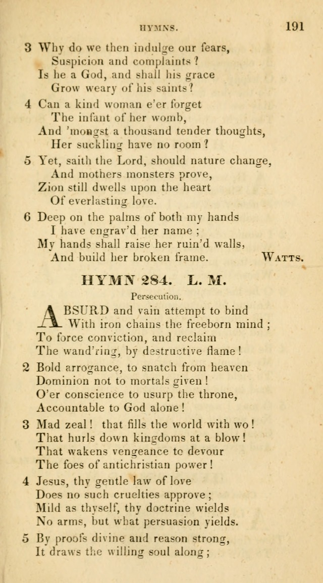 The Universalist Hymn-Book: a new collection of psalms and hymns, for the use of Universalist Societies (Stereotype ed.) page 191