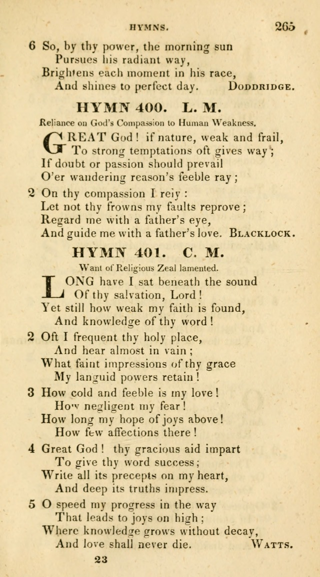 The Universalist Hymn-Book: a new collection of psalms and hymns, for the use of Universalist Societies (Stereotype ed.) page 265