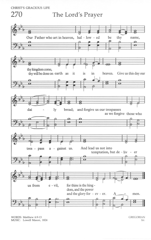 The United Methodist Hymnal 270. Our Father who art in heaven ...