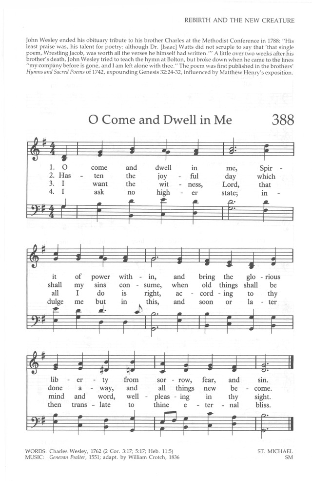 The United Methodist Hymnal 387. Come, O thou Traveler unknown ...