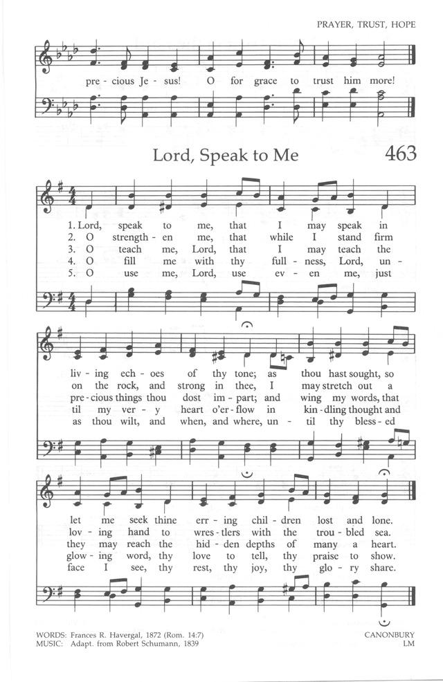 the united methodist hymnal 463 lord speak to me that i may speak