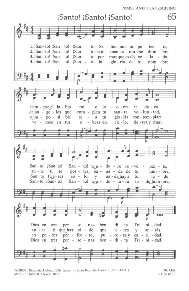 The United Methodist Hymnal page 65