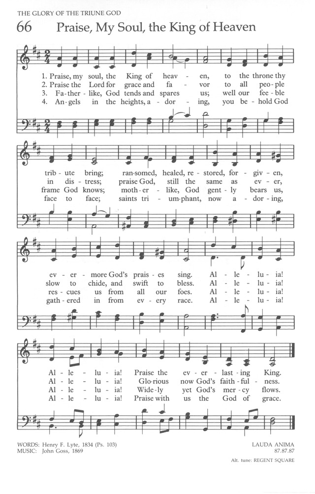 The United Methodist Hymnal page 66