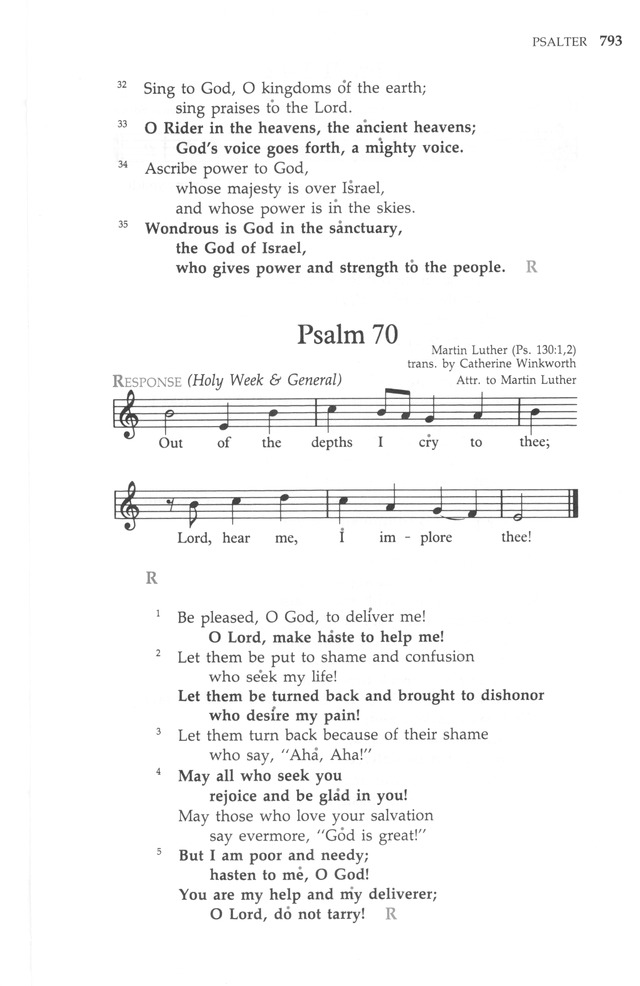 The United Methodist Hymnal page 793