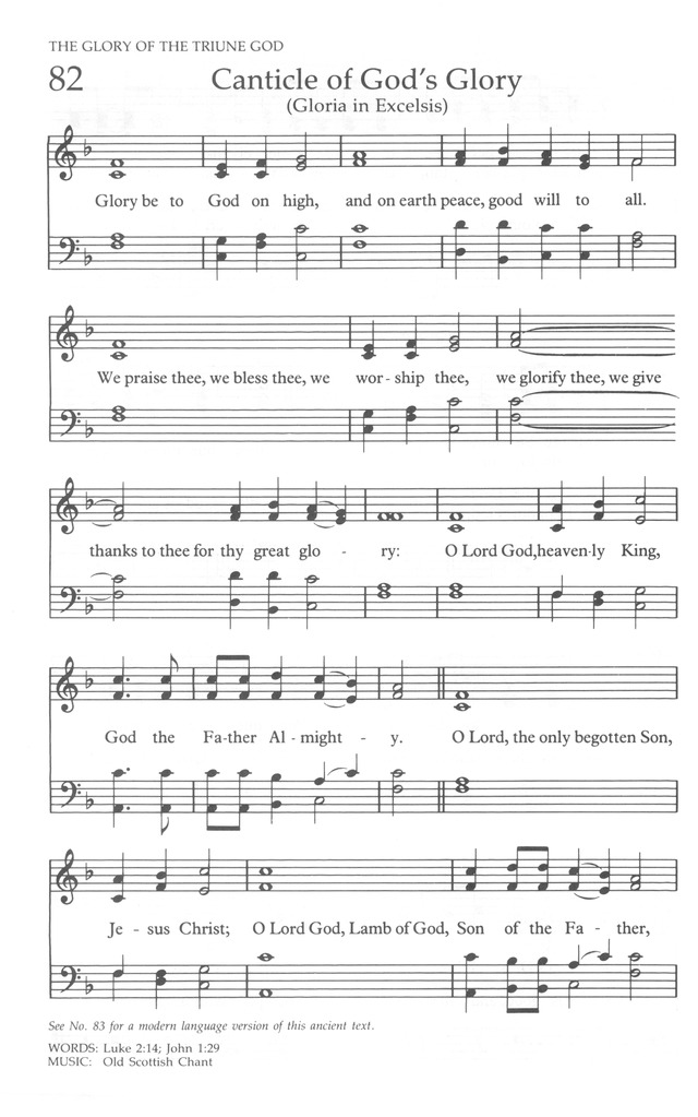The United Methodist Hymnal page 80