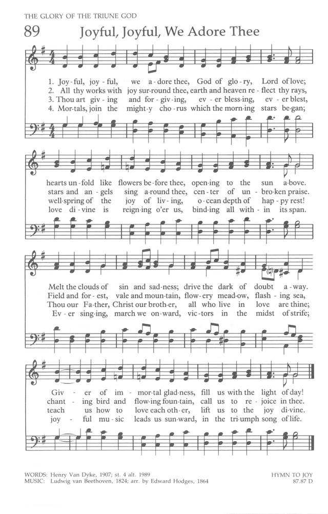 The United Methodist Hymnal page 88