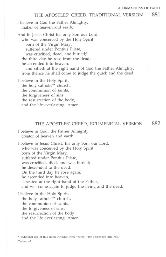 The United Methodist Hymnal page 881