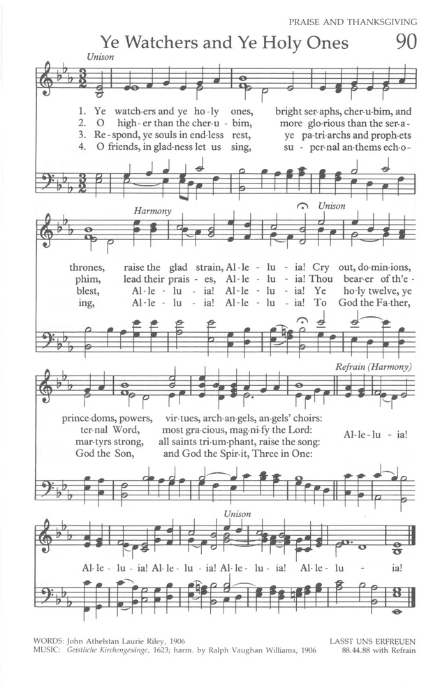 The United Methodist Hymnal page 89