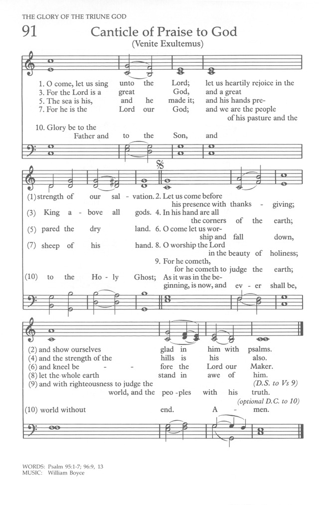 The United Methodist Hymnal page 90