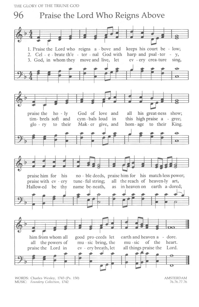 The United Methodist Hymnal page 96