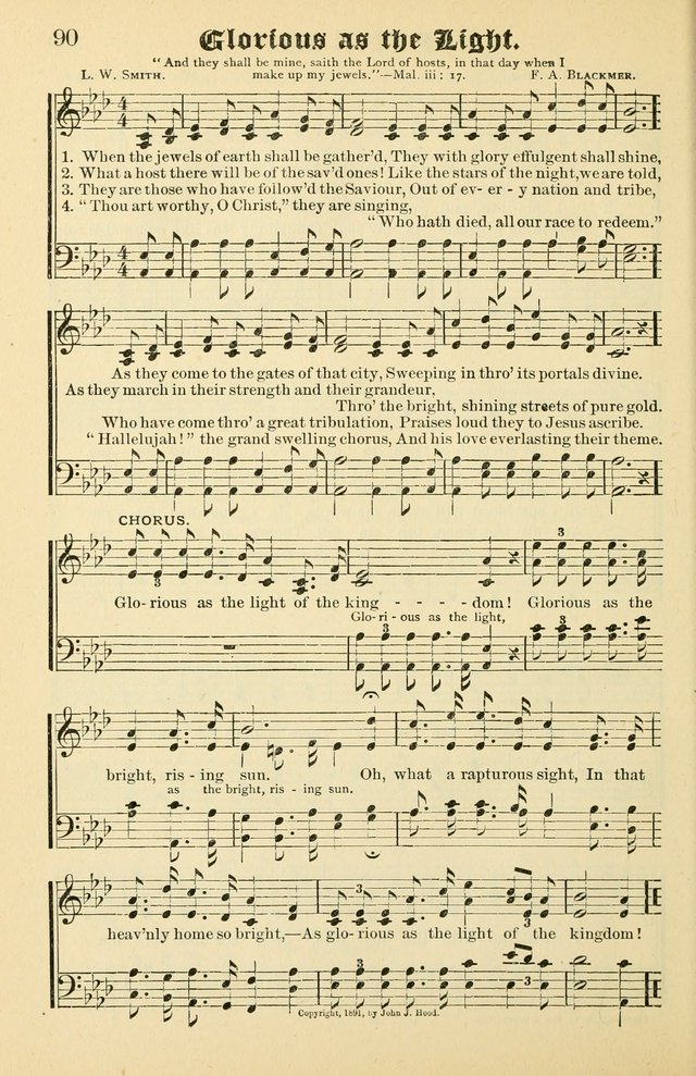 Unfading Treasures: a compilation of sacred songs and hymns, adapted for use by Sunday schools, Epworth Leagues, endeavor societies, pastors, evangelists, choristers, etc. page 90