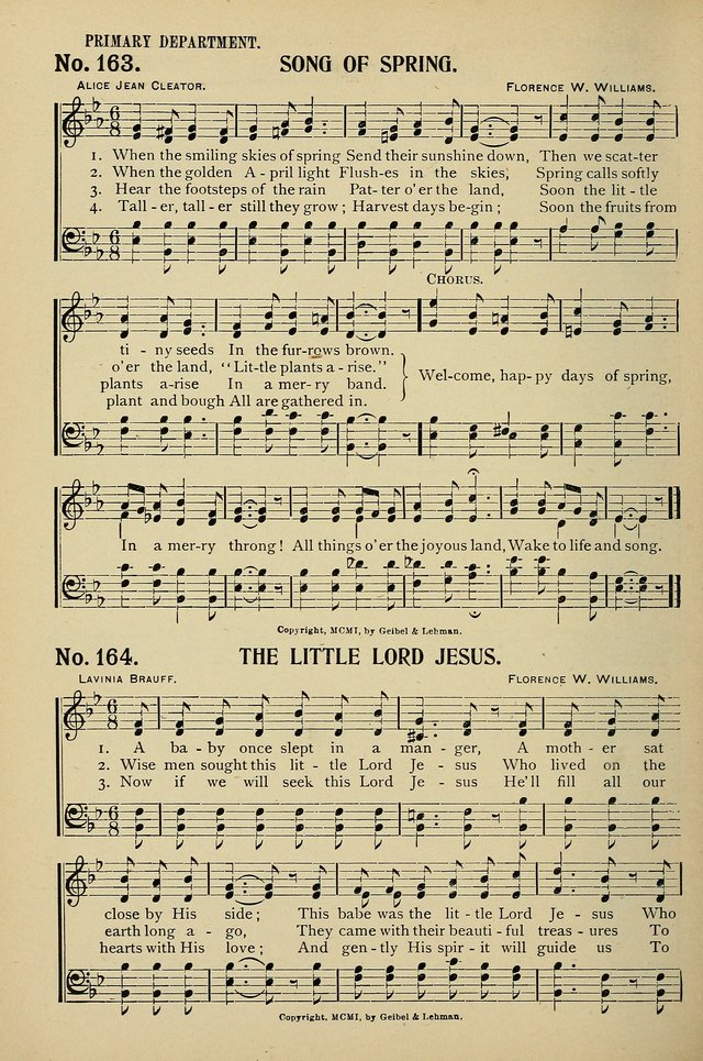 Uplifted Voices: a 20th century hymn book for sunday-schools and devotional meetings page 158
