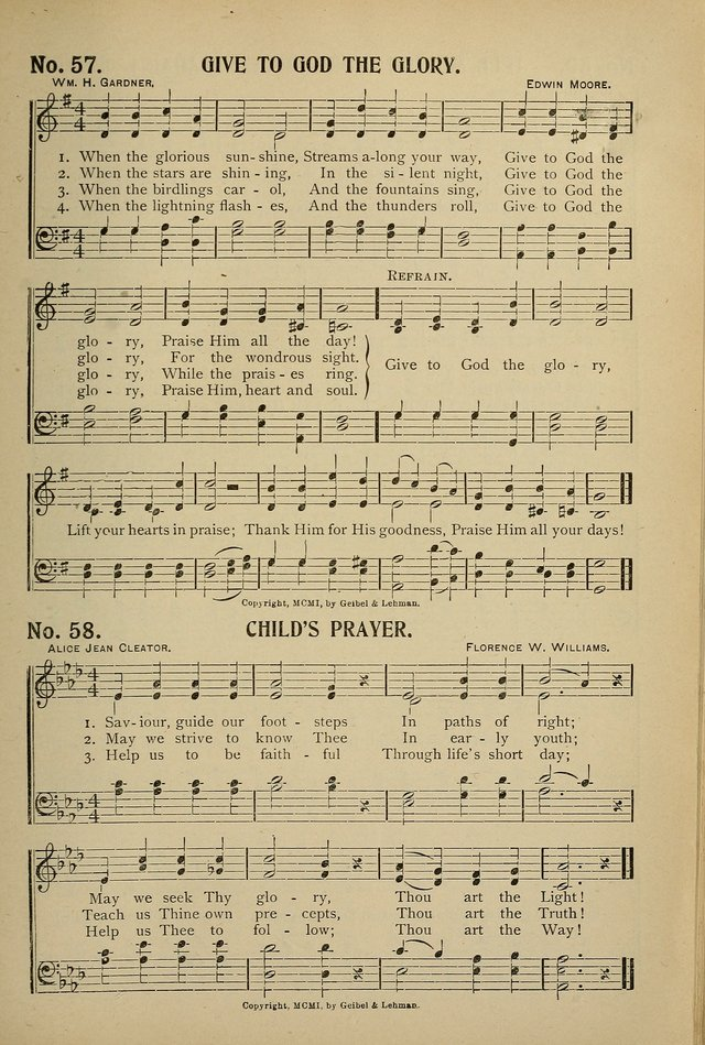 Uplifted Voices: a 20th century hymn book for sunday-schools and devotional meetings page 59
