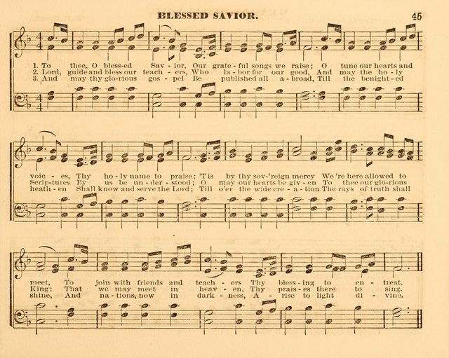 The Violet: a book of music and hymns, with lessons of instruction designed for Sunday Schools, social meetings, and home circles page 45
