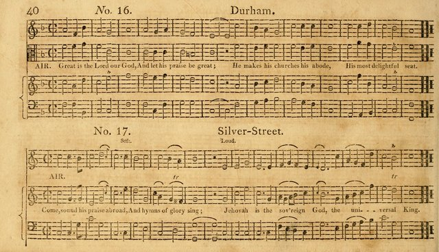 The Vocal Companion: containing a concise introduction to the practice of music, and a set of tunes of various metres, arranged progressively for the use of learners page 40
