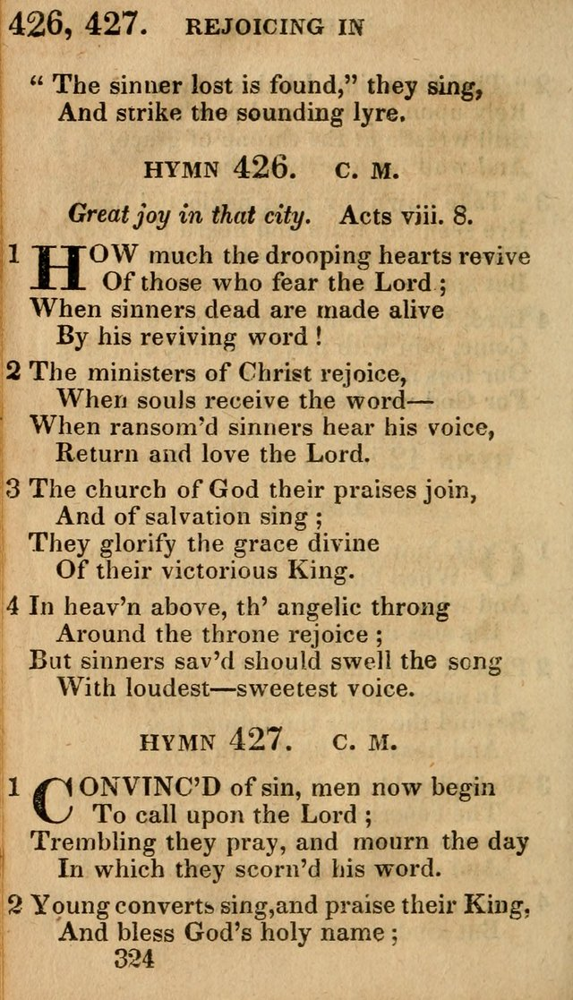 Village Hymns for Social Worship, Selected and Original: designed as a supplement to the Psalms and Hymns of Dr. Watts (6th ed.) page 330