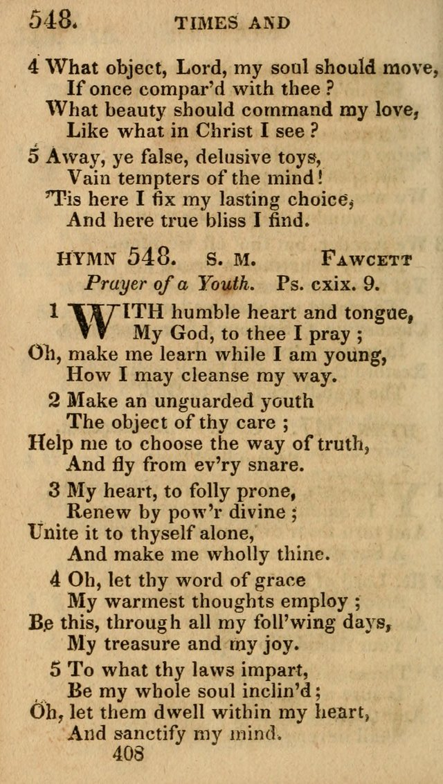 Village Hymns for Social Worship, Selected and Original: designed as a supplement to the Psalms and Hymns of Dr. Watts (6th ed.) page 422