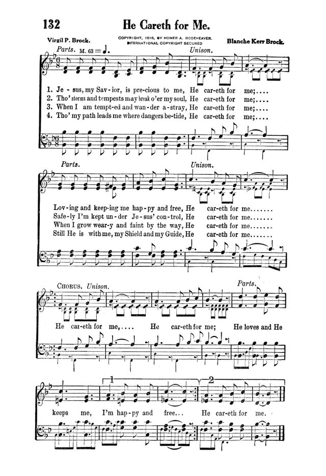 Victory Songs: For the Church, Sunday School and Evangelistic Services. page 134