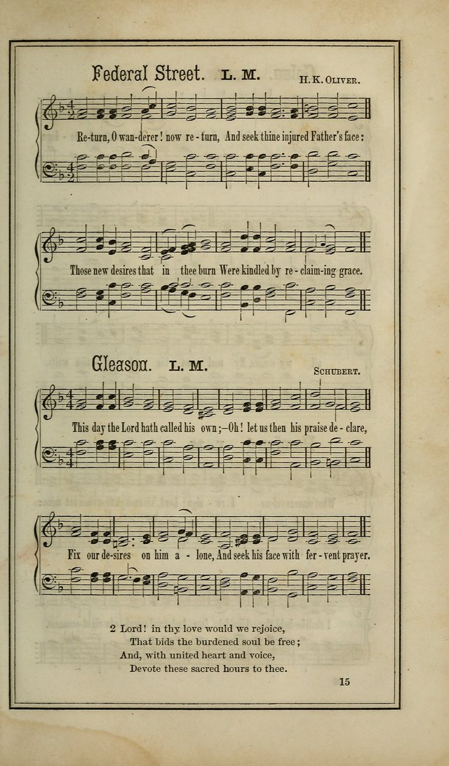 The Voice of melody: a choice collection of hymn tunes for choirs, prayer-meetings, congregations, and family use page 15