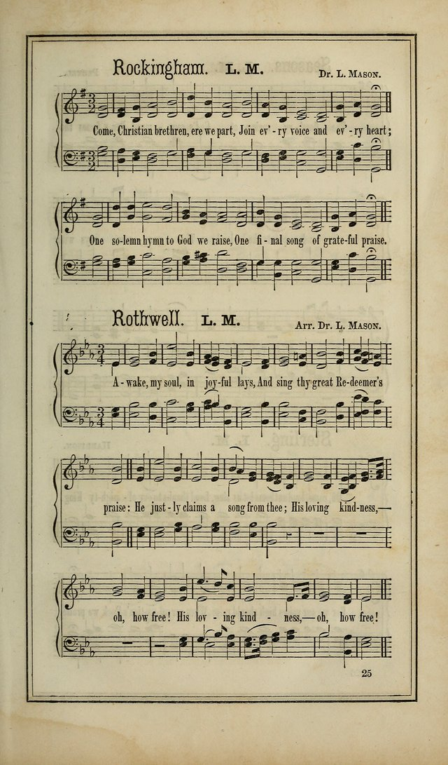 The Voice of melody: a choice collection of hymn tunes for choirs, prayer-meetings, congregations, and family use page 25
