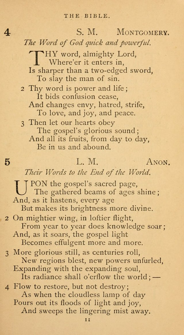 The Voice of Praise: a collection of hymns for the use of the Methodist Church page 11