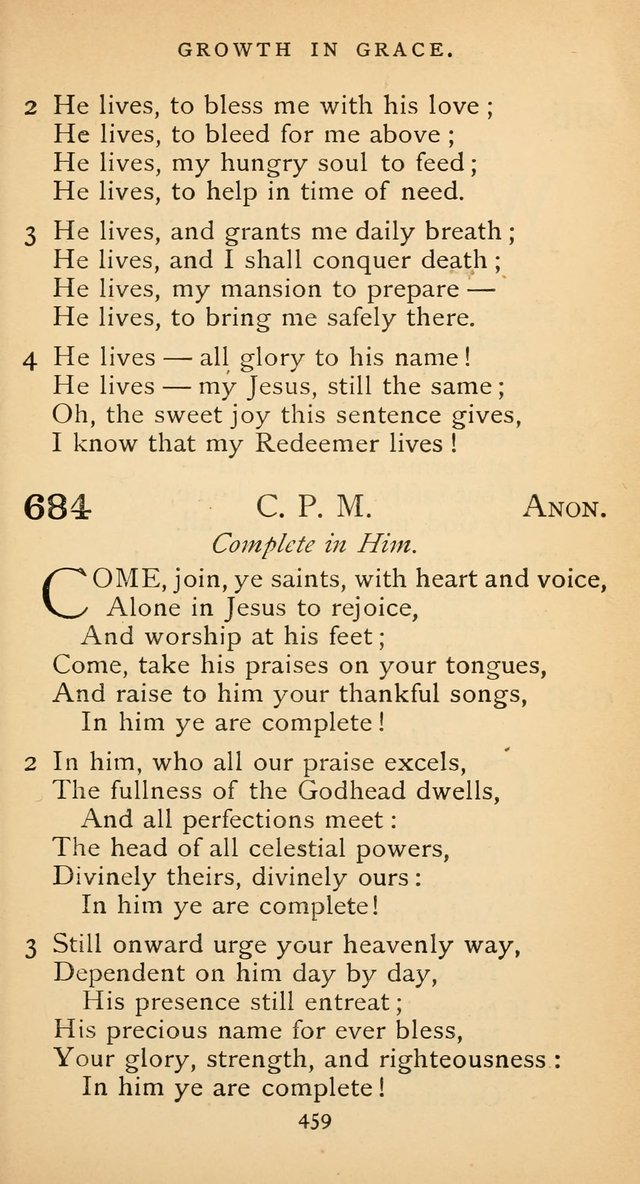 The Voice of Praise: a collection of hymns for the use of the Methodist Church page 459