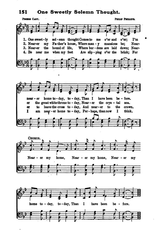 All Music Chords one sweet day sheet music : The Voice of Thanksgiving 151. One sweetly solemn thought ...