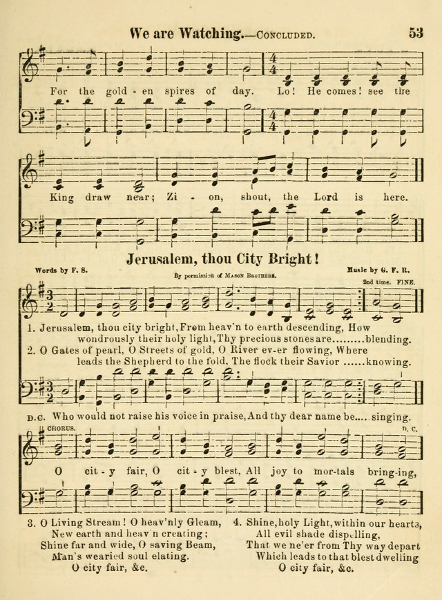 The Welcome: a book of hymns, songs and lessons for the children of the New Church (3rd ed.) page 53