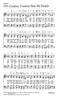 Comfort, comfort ye my people | Hymnary.org