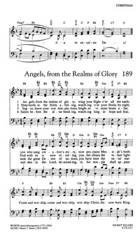 All Music Chords only you sheet music free : Angels From the Realms of Glory | Hymnary.org