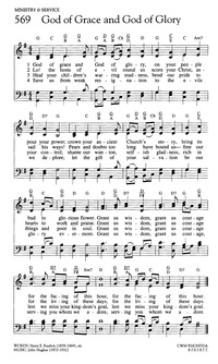 God Of Grace And God Of Glory Hymnary