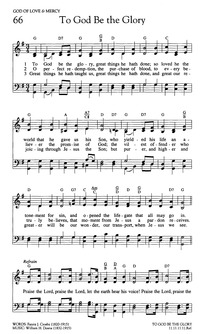 To God Be the Glory | Hymnary.org