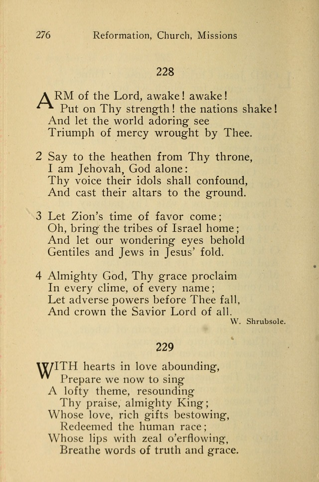 Wartburg Hymnal: for church, school and home page 276