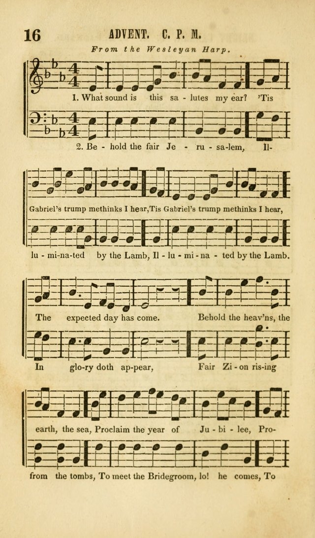 The Wesleyan Psalmist, or Songs of Canaan: a collection of hymns and tunes designed to be used at camp-meetings, and at class and prayer meetings, and other occasions of social devotion page 23