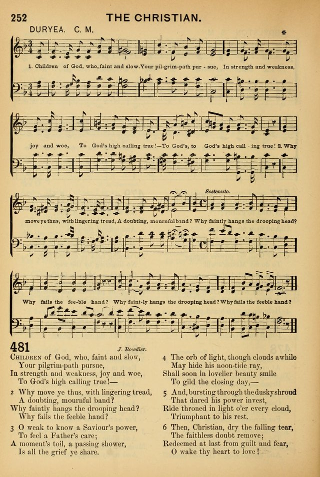 Worship in Song: a selection of hymns and tunes for the Service of the Sanctuary  page 252
