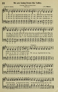 We Are Going Down The Valley Hymnary