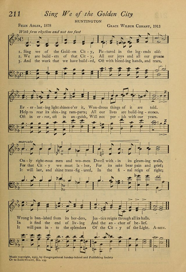 All Music Chords golden sheet music : Worship and Song. (Rev. ed.) 211. Sing we of the Golden City ...