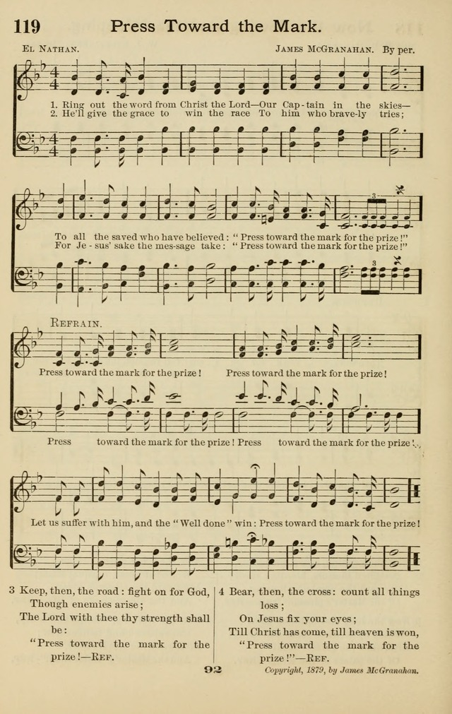 Westminster Sabbath School Hymnal, a collection of hymns and tunes for use in sabbath-schools and social meetings page 93