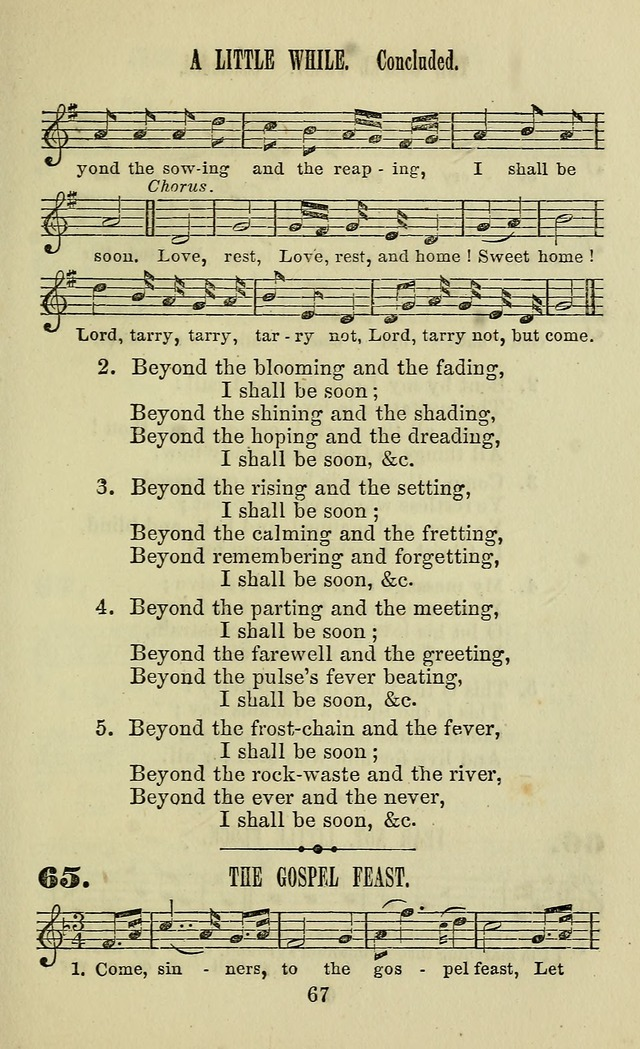 Zion hymn and tune book: for use in the church, prayer-meeting, school and houselhold page 72