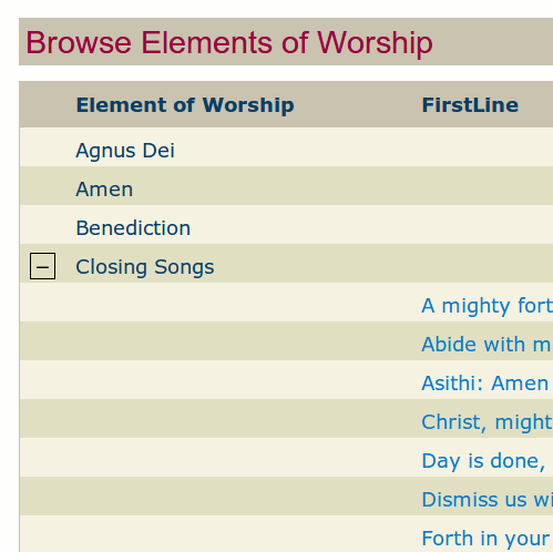 Element of Worship